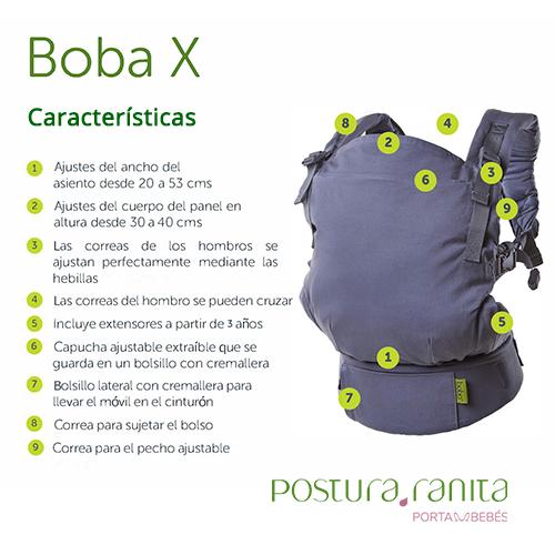 Mochila Portabebés Evolutiva Boba X Postura Ranita Portabebés